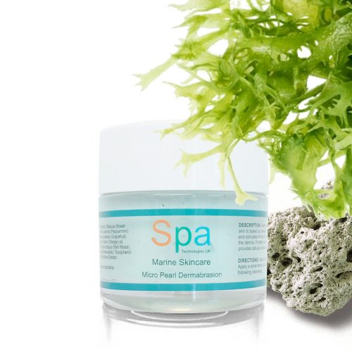 Micro Pearl Dermabration with natural crushed pearls, pumice and spirulina