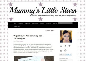 Vegan Flower Peel Serum by Spa Technologies , Mummy's Little Stars review