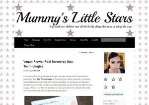 Vegan Flower Peel Serum by Spa Technologies , Mummy's Little Stars review