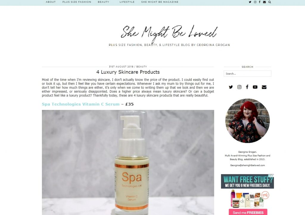 Vitamin C Serum, luxury skincare recommended by Georgina Grogan