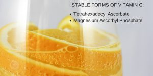 Vitamin C derivatives in stable forms are more efficient than ascorbic acids, its puree form