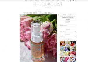 The Luxe List - Flower Peel Serum